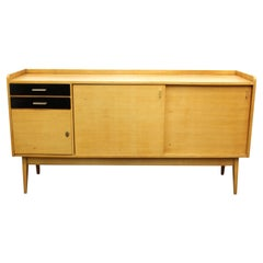 Maurice Pre French Mid-Century Modern Oak Credenza