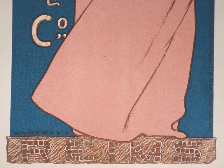 Champagne Jules Mumm - Original lithograph (Les Maîtres de l'Affiche), 1897 - Art Nouveau Print by Maurice Réalier-Dumas