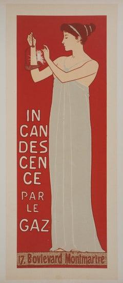 Goddess of light - Original lithograph (Les Maîtres de l'Affiche), 1895