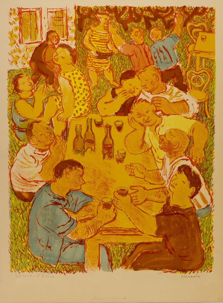 Noces Champêtres [Rustic Wedding] - Print by Maurice Savin