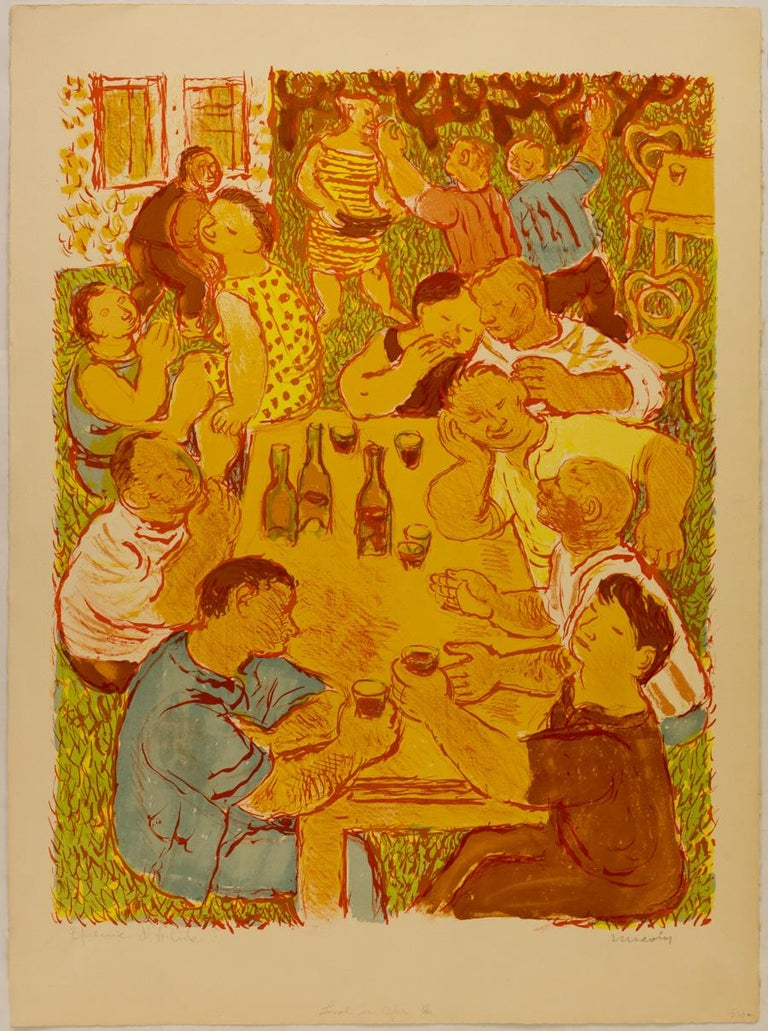 Maurice Savin Figurative Print - Noces Champêtres [Rustic Wedding]