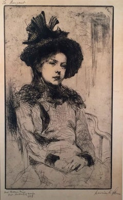 SEATED GIRL WITH HAT