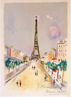 La Tour Eiffel by Maurice Utrillo, 1955