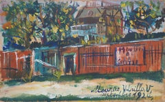 Montmartre, Moulin de la Galette - Oil on Panel, Handsigned