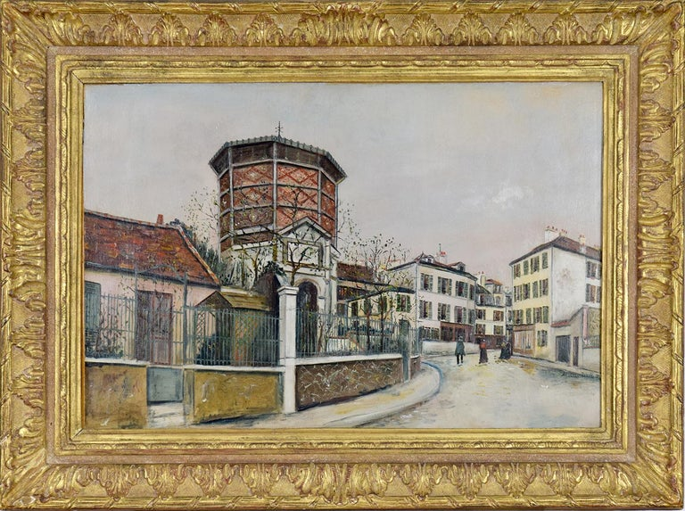 Place Jean-Baptise-Clément by MAURICE  UTRILLO (1883-1955)  Oil on cradled panel 51.3 x 76.2 cm (20¹/₄ x 30 inches) Signed towards the lower right, Maurice. Utrillo. V. Executed circa 1918   Provenance Galerie Marcel Bernheim, Paris Weill