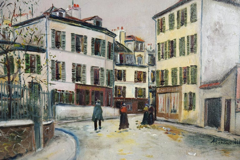 Place Jean-Baptise-Clément By Maurice Utrillo - School of Paris oil painting For Sale 2