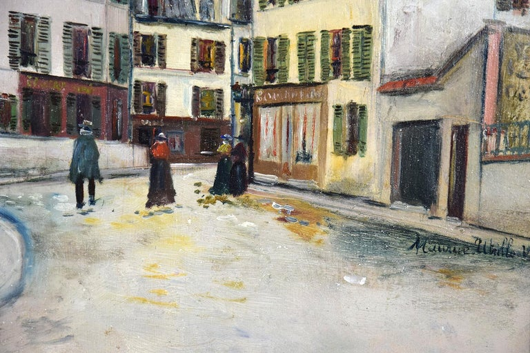 Place Jean-Baptise-Clément By Maurice Utrillo - School of Paris oil painting For Sale 4