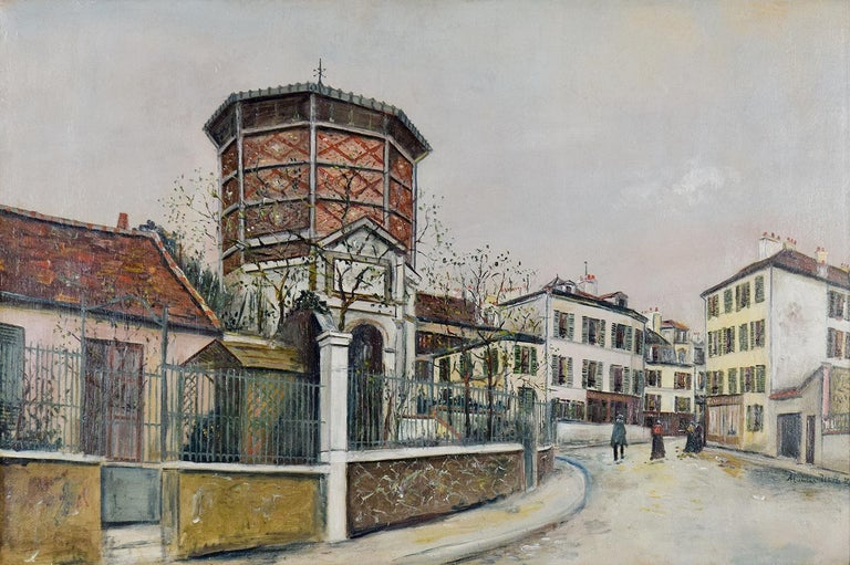 Place Jean-Baptise-Clément By Maurice Utrillo - School of Paris oil painting For Sale 1