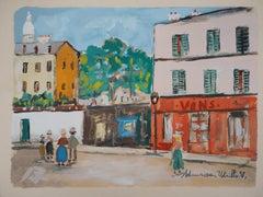 Cabaret in Montmartre - Original Lithograph