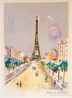 "After Maurice Utrillo - La Tour Eiffel - from ""Paris Capitale"""