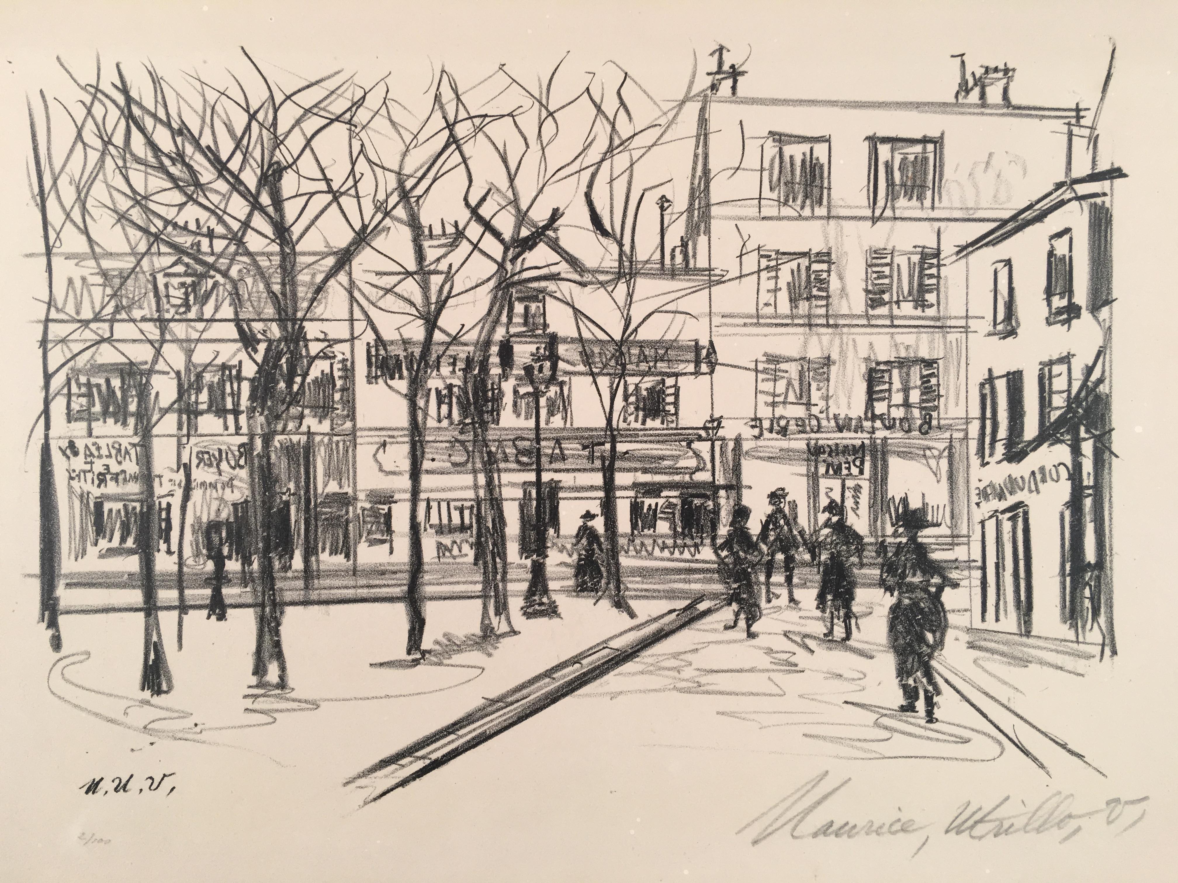 Maurice Utrillo Lithograph