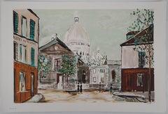 Sacré-Coeur of Montmartre - Lithograph