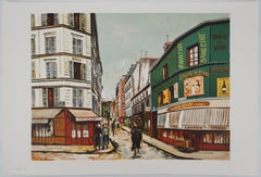 Seveste Street of Montmartre - Lithograph