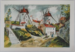 Three Mills in Montmartre - Lithograph