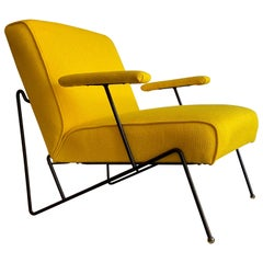 Mauricio Tempestini Salteri Iron Frame Armchair Upholstered in Knoll Upholstery