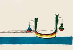 Bells - Original Colored Screen Print by Maurilio Catalano -1980s
