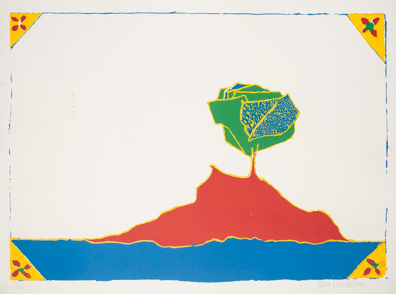 Island - Original Screen Print by Maurilio Catalano - 1970s