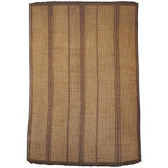 Mauritania Mat from Sahara in Leather and Palm Wood, Mid-Century Modern Design