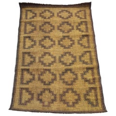 Mauritania Mat from Sahara in Palm Wood and Leather, Mid-Century Modern Design