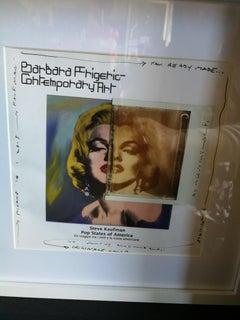 Marilyn - Maurizio Galimberti Readymade Polaroid on Steve Kaufman Catalogue