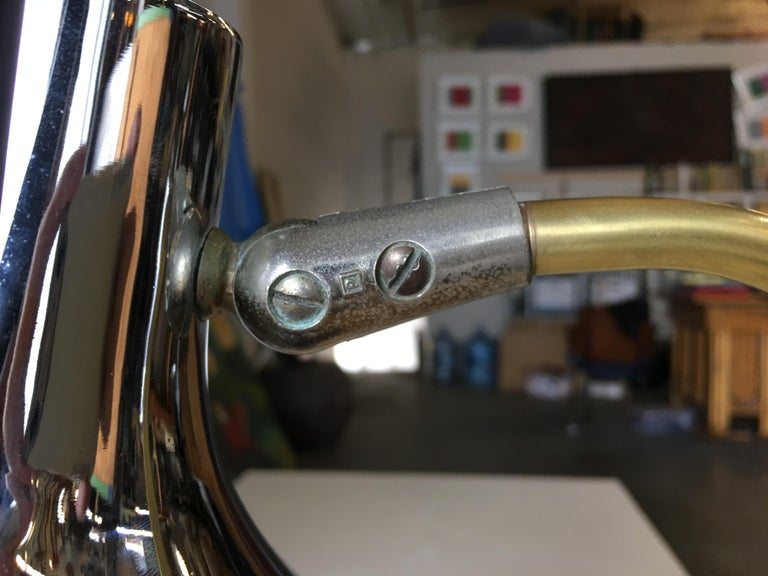 Mid Century Anglepoise Chrome Desk Lamp By Prescolite For Sale 2