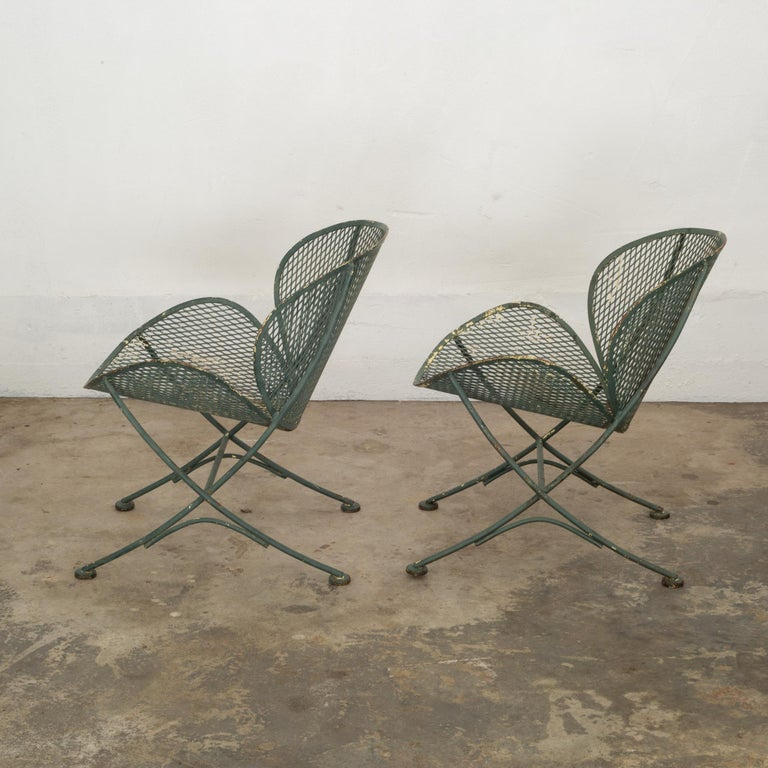 Maurizio Tempestini for Salterini Midcentury Patio Set, circa 1950 In Distressed Condition For Sale In San Francisco, CA