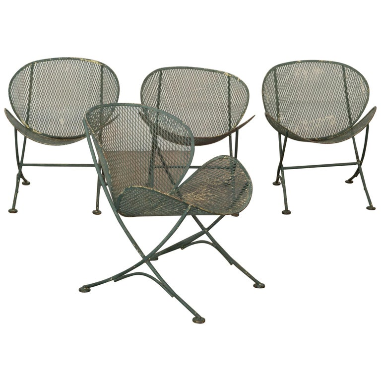 Maurizio Tempestini for Salterini Midcentury Patio Set, circa 1950 For Sale