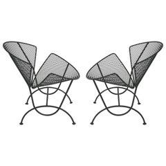 "Maurizio Tempestini for Salterini Wrought Iron Chairs, ""Orange Slice-Clam Shell"""
