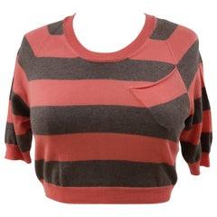 Mauro Grifoni pink brown sweater