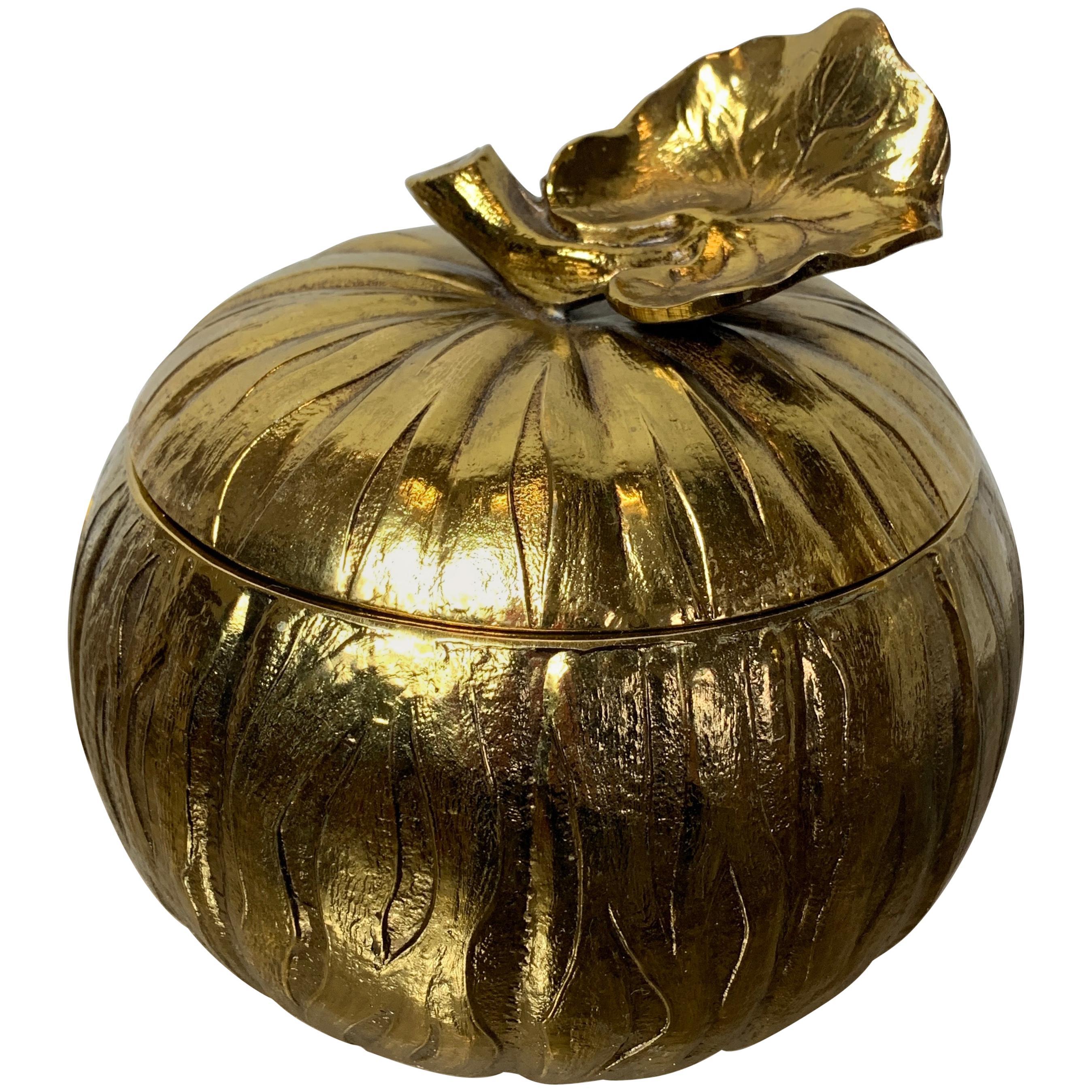 Mauro Manetti Gold Pumpkin Ice Bucket, 1960s