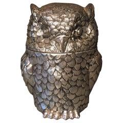 Mauro Manetti Italian Owl Ice Bucket, 1970s
