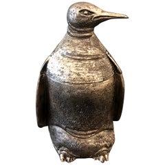 Mauro Manetti Penguin Ice Bucket, circa 1970 Silver Replated
