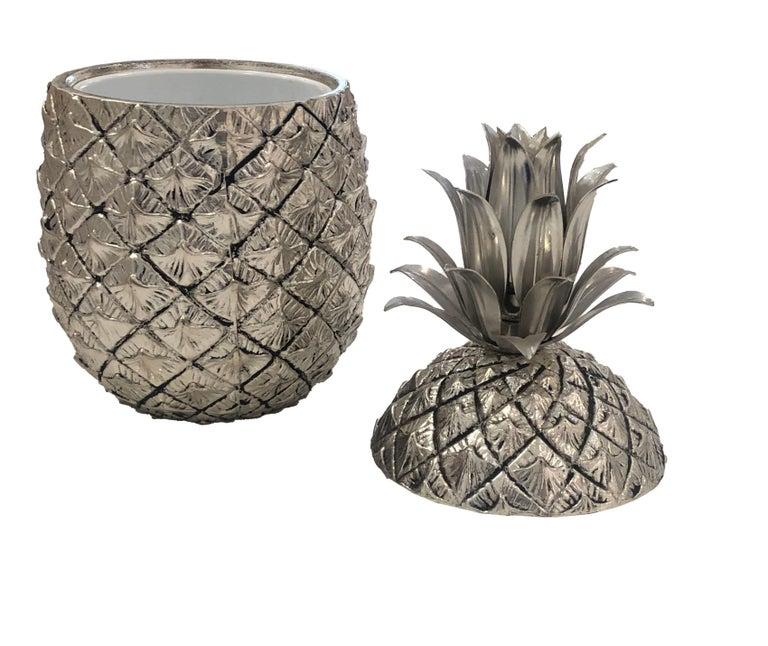 Mid-Century Modern Mauro Manetti Vintage Mid-Century Pineapple Ice Bucket For Sale