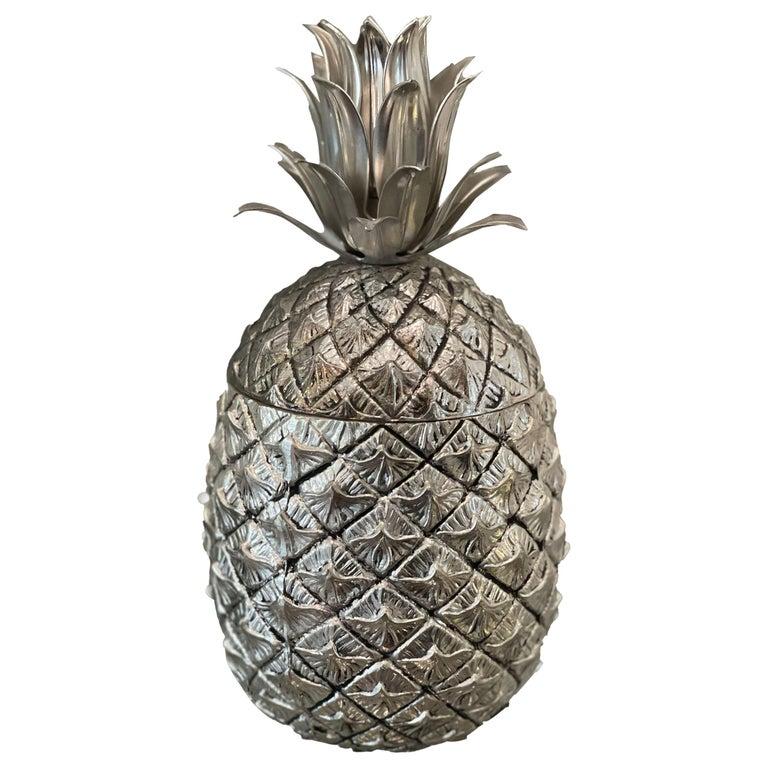 Mauro Manetti Vintage Mid-Century Pineapple Ice Bucket For Sale