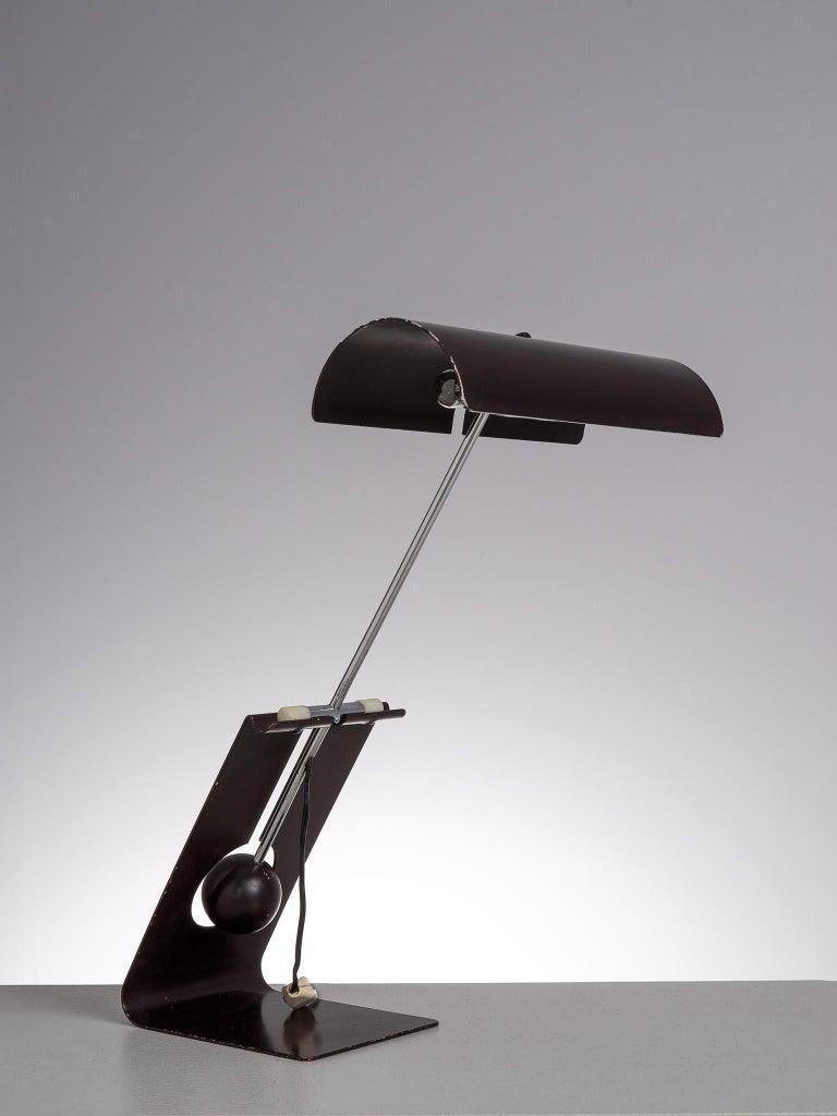 Mid-20th Century Mauro Martini for Fratelli 'Picchio' Table Lamp For Sale