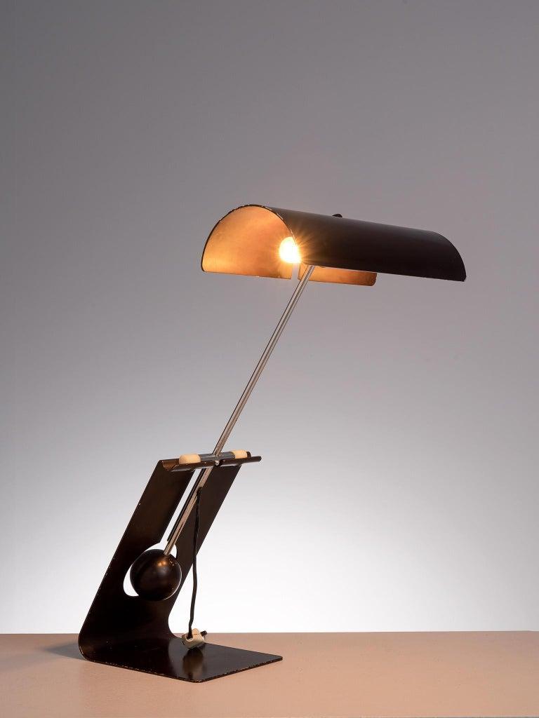 Metal Mauro Martini for Fratelli 'Picchio' Table Lamp For Sale