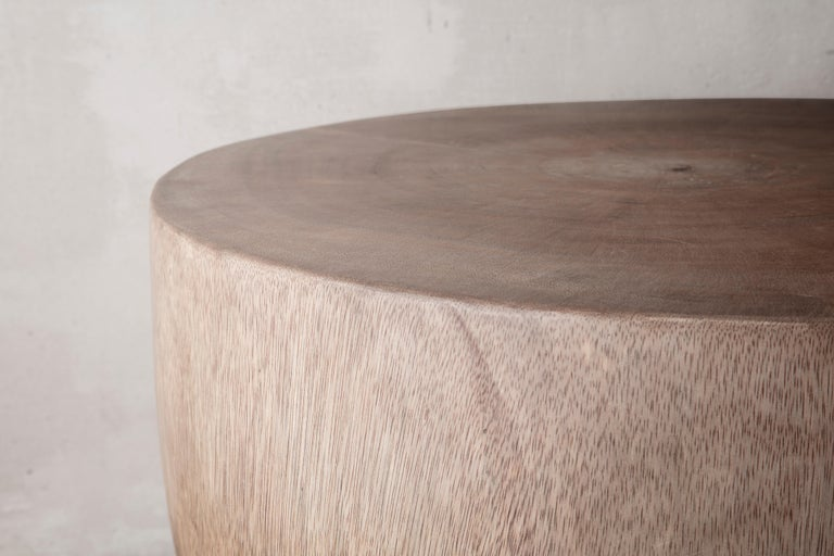 Hand-Carved Mauro Mori Cup Table in Natural Albizia Wood For Sale