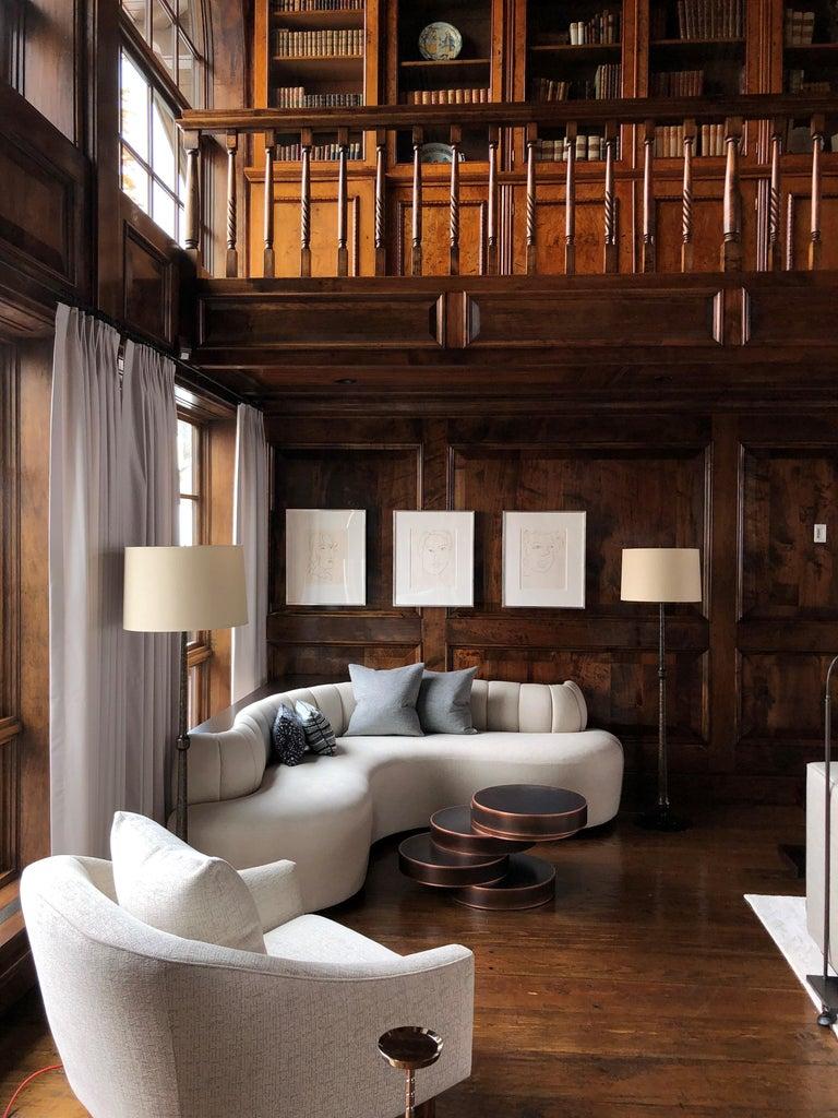Mauro Mori Movimento IV Basso Table in Fondente Copper In New Condition For Sale In New York, NY