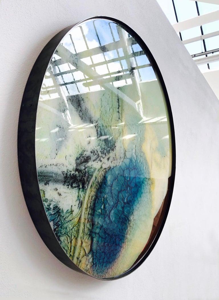Modern Mauro Moriconi Tondo 045 Artwork, 2019 Contemporary Mixed-Media For Sale