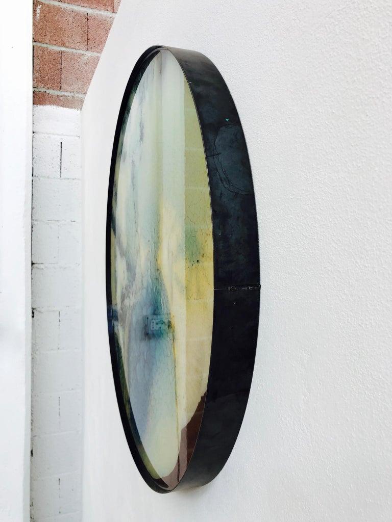 Italian Mauro Moriconi Tondo 045 Artwork, 2019 Contemporary Mixed-Media For Sale