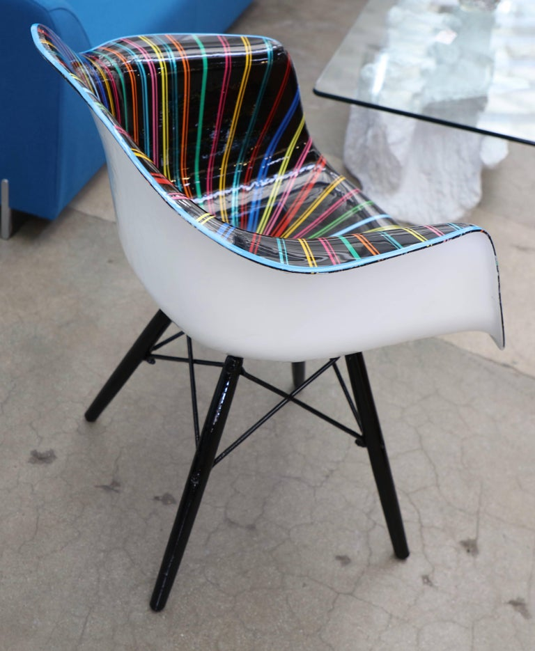 Cast Mauro Oliveira Decorated Chair For Sale