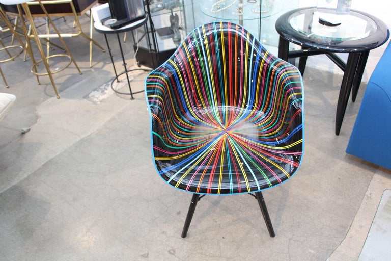 Plastic Mauro Oliveira Decorated Chair For Sale