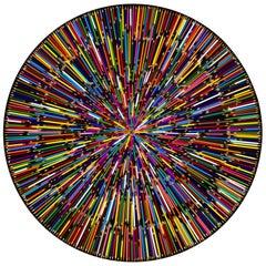 Colorful RainBow Epicenter I (Original Mixed Media Artwork)