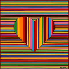 Colorful Rainbow Love I (Original Artwork)