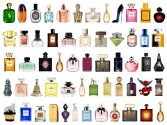 FILTHY RICH - White: Perfumes & White 'Diamonds' (Framed Mixed Media Art Series)