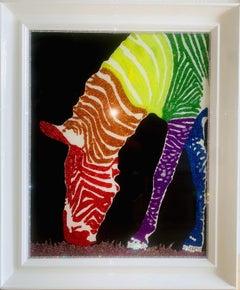 Colorful Happy Pride MonthII (Original Mixed Media Artwork)