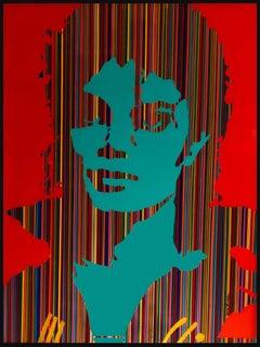 King of Pop II (Original MixedMedia Framed ArtWork)