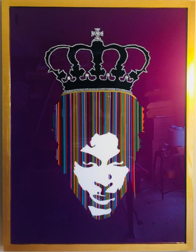 King Prince I (Original MixedMedia Framed Artwork)