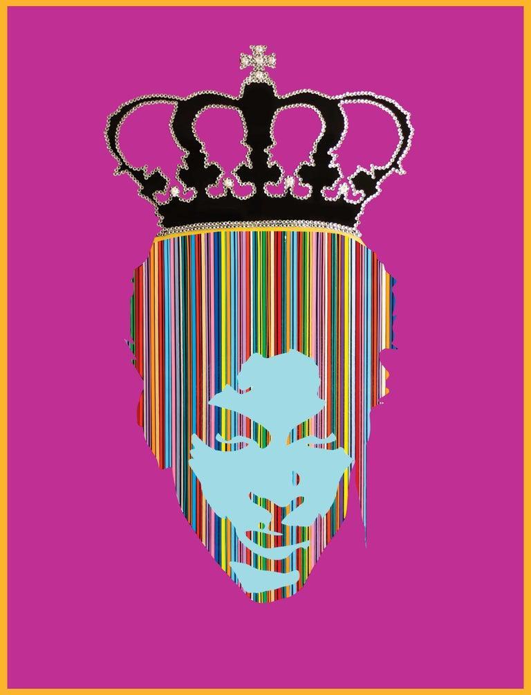 King Prince II (Orignal MixedMedia Framed Artwork)