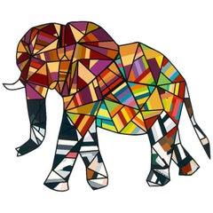 Lucky Elephant (Original Collage Artwork)